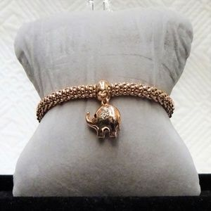 EXQUISITE VINTAGE Gold Tone Expandable Wire Bracel